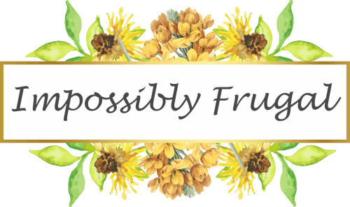 logo impossibly frugal floral orange